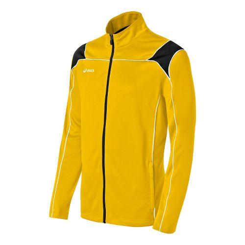Mens ASICS Miles Warm Up Hooded Jackets - Gold/Black XXL
