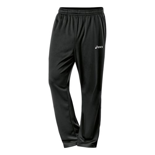 Mens ASICS Miles Full Length Pants - Black/White M