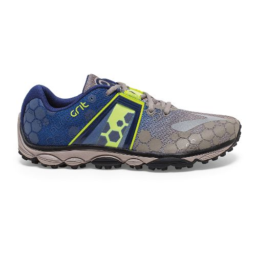 Mens Brooks PureGrit 4 Trail Running Shoe - Driftwood/Blueprint 9.5