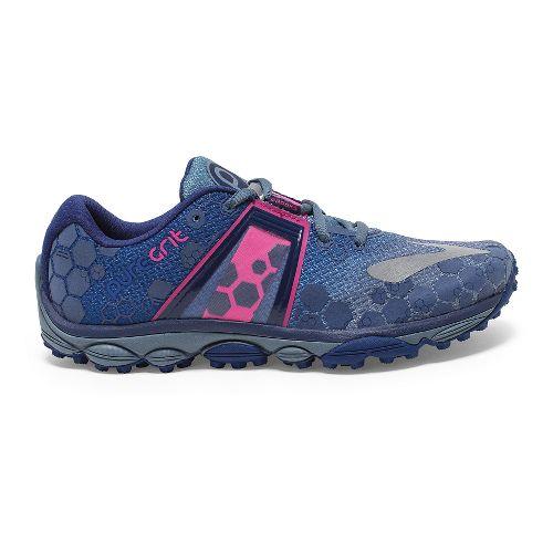Womens Brooks PureGrit 4 Trail Running Shoe - China Blue/Pink Glo 7.5