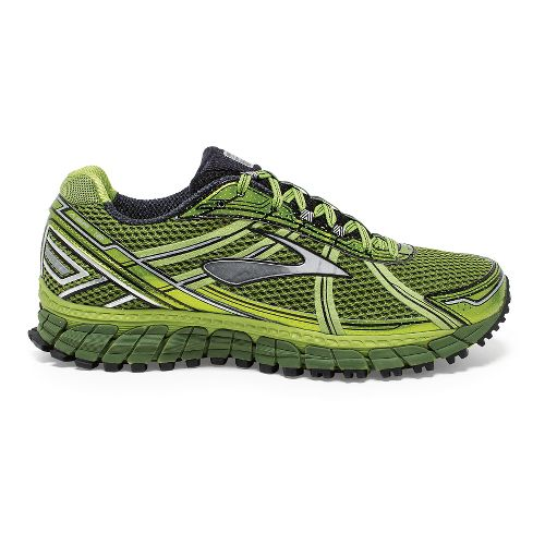 Mens Brooks Adrenaline ASR 12 Trail Running Shoe - Green/Black 7.5