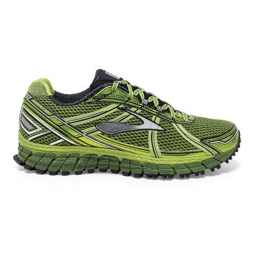 Mens Brooks Adrenaline ASR 12 Trail Running Shoe - Green/Black 9.5