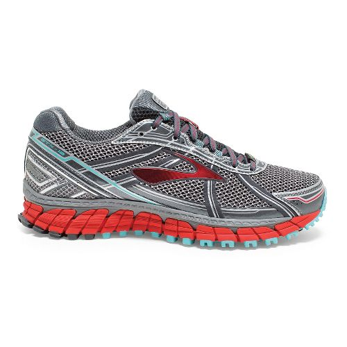 Womens Brooks Adrenaline ASR 12 GTX Trail Running Shoe - Anthracite/Hibiscus 6.5