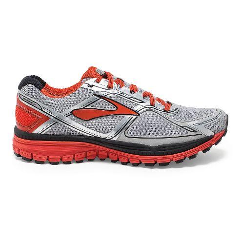 Mens Brooks Ghost 8 GTX Running Shoe - Silver/Poinciana 15