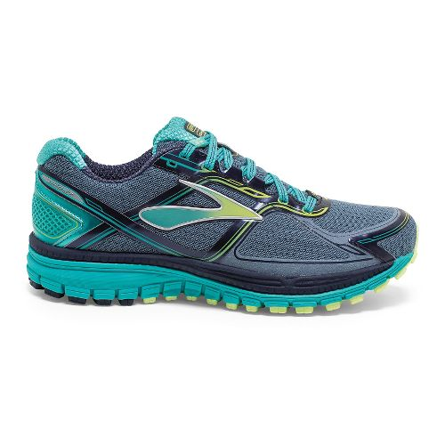 Womens Brooks Ghost 8 GTX Running Shoe - Storm/Sharp Green 6