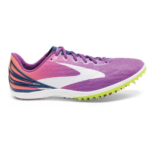Womens Brooks Mach 17 Spike Track and Field Shoe - Purple Cactus Flower 10.5