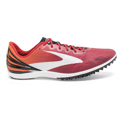 Mens Brooks Mach 17 Spikeless Track and Field Shoe - Red/Exuberance 12