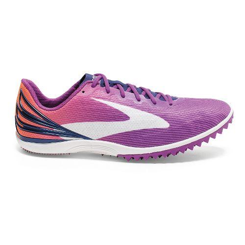 Womens Brooks Mach 17 Spikeless Track and Field Shoe - Purple Cactus Flower 8.5