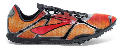 Mens Brooks PR LD 4 Track and Field Shoe - Red/Anthracite 8