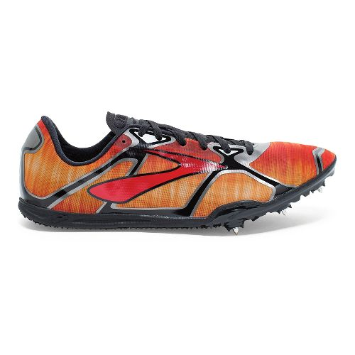 Mens Brooks PR LD 4 Track and Field Shoe - Red/Anthracite 13