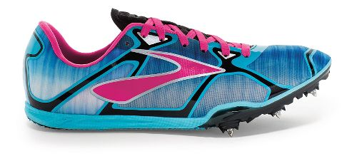 Womens Brooks PR LD 4 Running Shoe - Cyan/Pink Glo 9