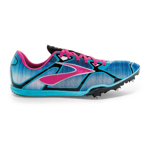 Womens Brooks PR LD 4 Running Shoe - Cyan/Pink Glo 6.5