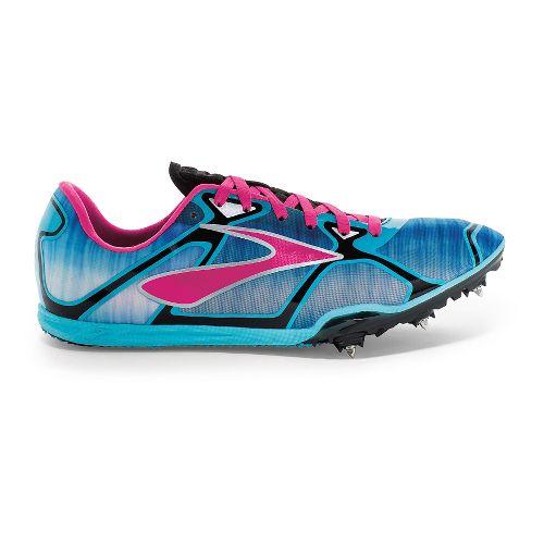 Womens Brooks PR LD 4 Running Shoe - Cyan/Pink Glo 8.5