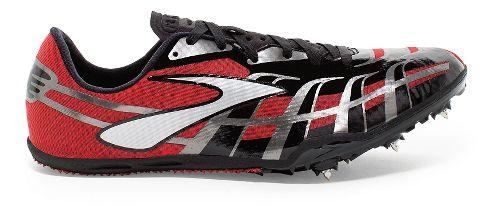 Mens Brooks PR Sprint 4 Track and Field Shoe - High Risk Red/Black 12.5