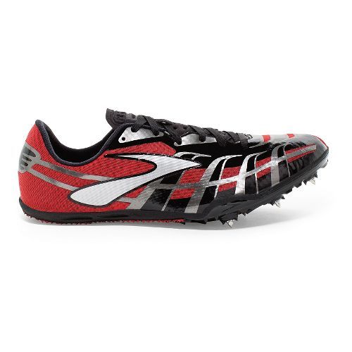 Mens Brooks PR Sprint 4 Track and Field Shoe - High Risk Red/Black 12