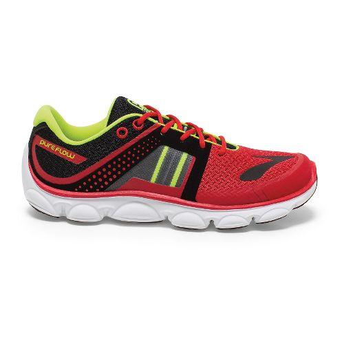 Kids Brooks PureFlow 4 Grade Boys Running Shoe - High Risk Red/Black 6.5
