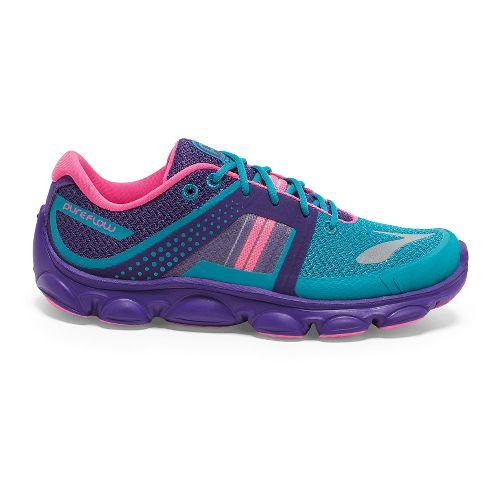 Kids Brooks PureFlow 4 Grade Girls Running Shoe - Capri Breeze 4.5