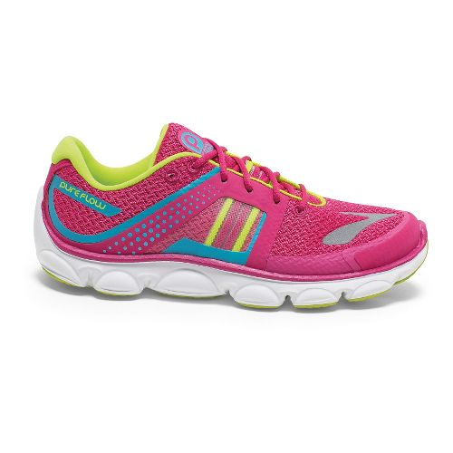Kids Brooks PureFlow 4 Grade Girls Running Shoe - Magenta/Blue Atoli 1.5