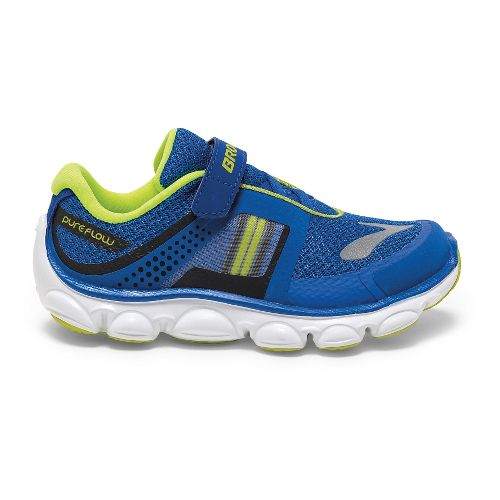 Kids Brooks PureFlow 4 Toddler Running Shoe - Electric Brooks/Lime 10.5