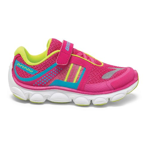 Kids Brooks PureFlow 4 GS Running Shoe - Magenta/Blue Atoli 13.5