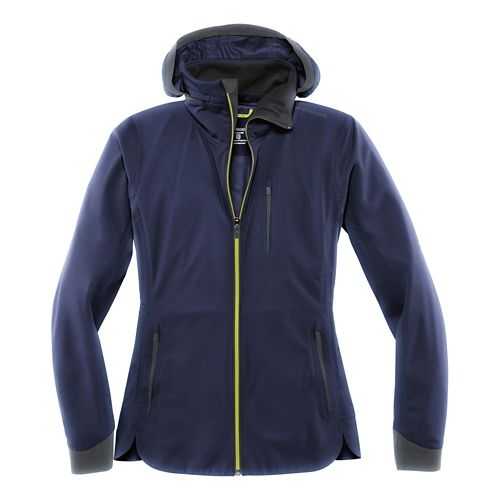 Womens Brooks Seattle Shell Warm Up Hooded Jackets - Navy XS