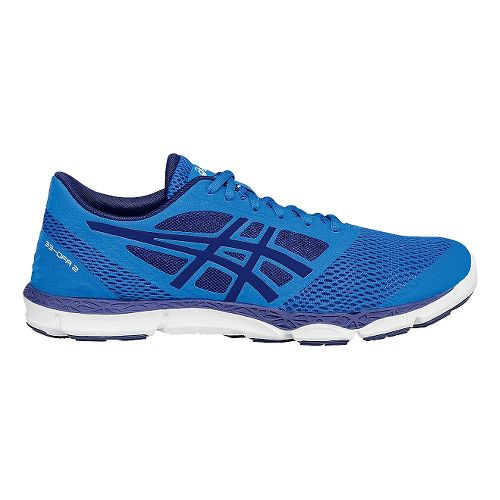 Mens ASICS 33-DFA 2 Running Shoe - Blue/White 6.5