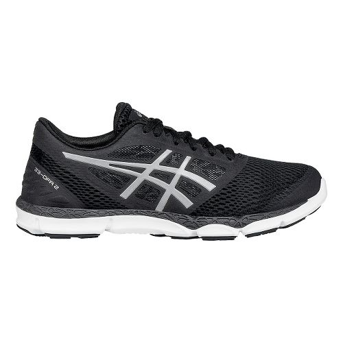 Womens ASICS 33-DFA 2 Running Shoe - Black/Silver 10.5
