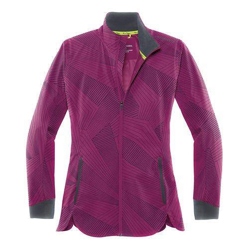 Womens Brooks Drift Shell Running Jackets - Currant Sunshine S