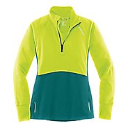 Womens Brooks Drift 1/2 Zip Long Sleeve Technical Tops