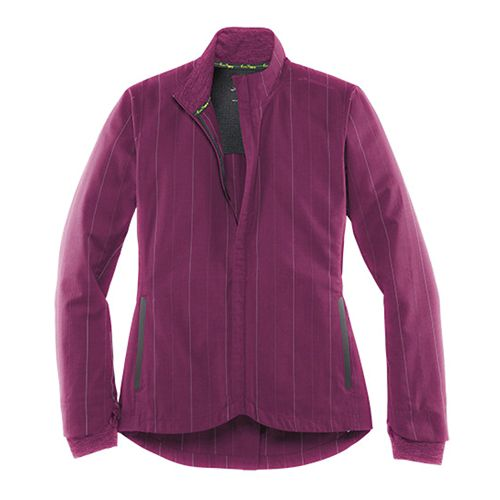 Womens Brooks Bolt Warm Up Hooded Jackets - Heather Currant S