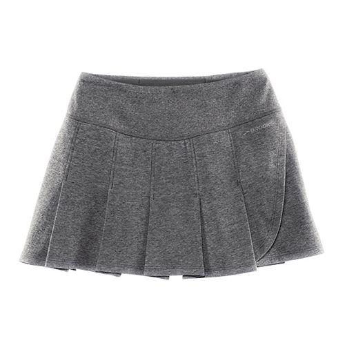 Womens Brooks Joyride Skirt Fitness Skirts - Heather Black XL