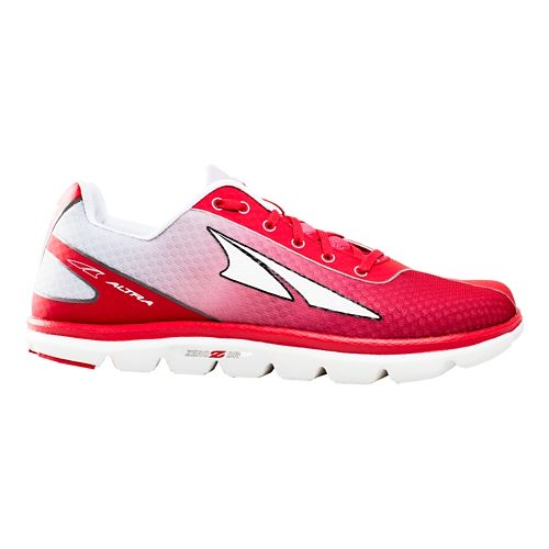 Mens Altra One 2.5 Running Shoe - Red/Silver 8.5