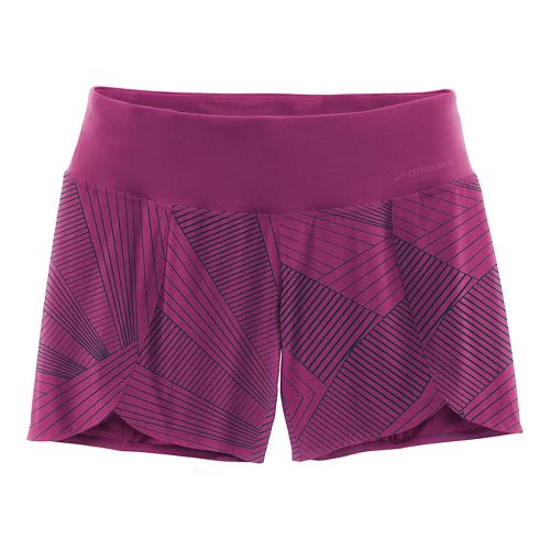 Womens Brooks Racey 7 Lined Shorts - Currant Sunshine XXL