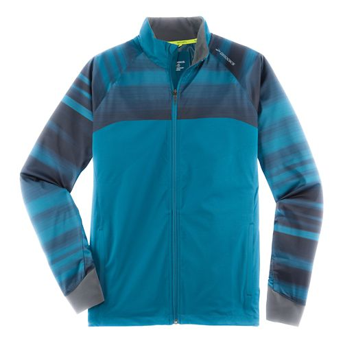 Mens Brooks Drift Shell Running Jackets - River/River Blur XS