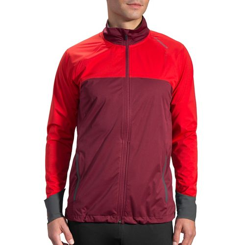 Mens Brooks Drift Shell Running Jackets - Root/Lava S