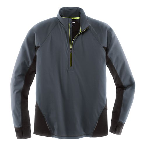 Mens Brooks Drift 1/2 Zip Long Sleeve Technical Tops - Asphalt M