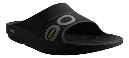 OOFOS Ooahh Sport Sandals Shoe - Black/Black 4
