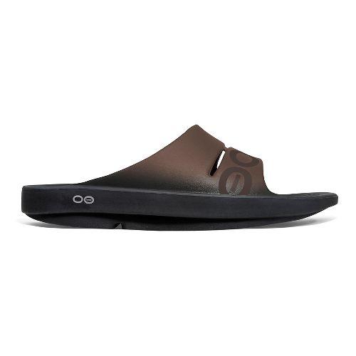 OOFOS Ooahh Sport Sandals Shoe - Brown 9