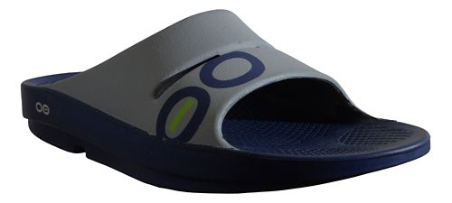 OOFOS Ooahh Sport Sandals Shoe - Navy/Steel 4