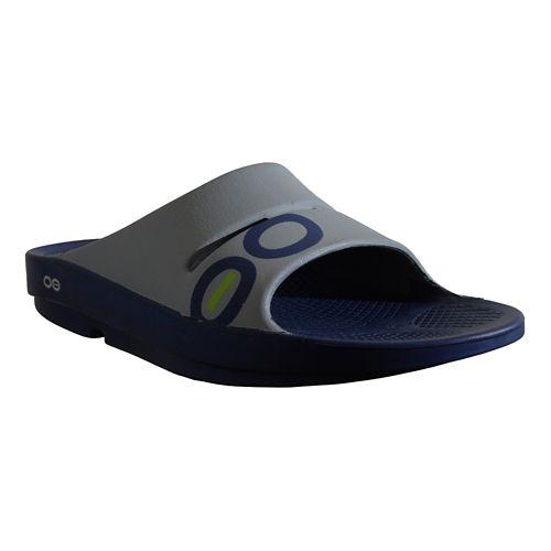 OOFOS Ooahh Sport Sandals Shoe - Navy/Steel 6
