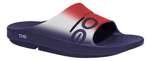 OOFOS Ooahh Sport Sandals Shoe - Red/White 5