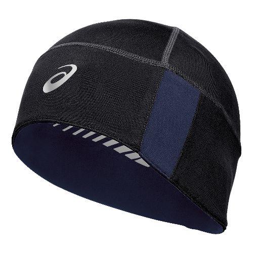 ASICS Thermal 2-N-1Beanie Headwear - Black/Indigo Blue