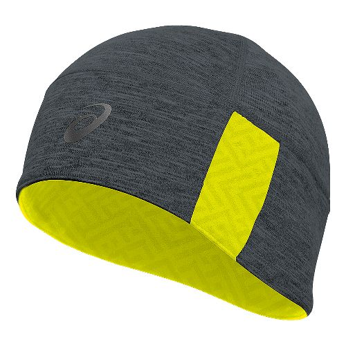 ASICS Thermal 2-N-1Beanie Headwear - Grey Heather/Yellow