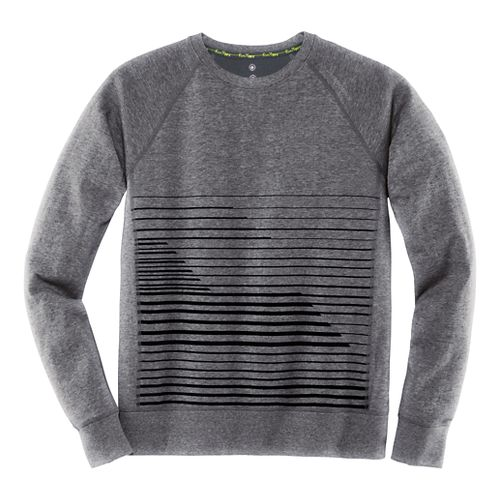 Mens Brooks Joyride Sweatshirt Long Sleeve Technical Tops - Heather Black XL