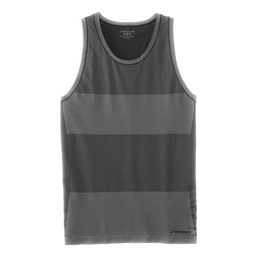 Mens Brooks Streaker Singlet Sleeveless & Tank Tops Technical Tops - Heather Black L