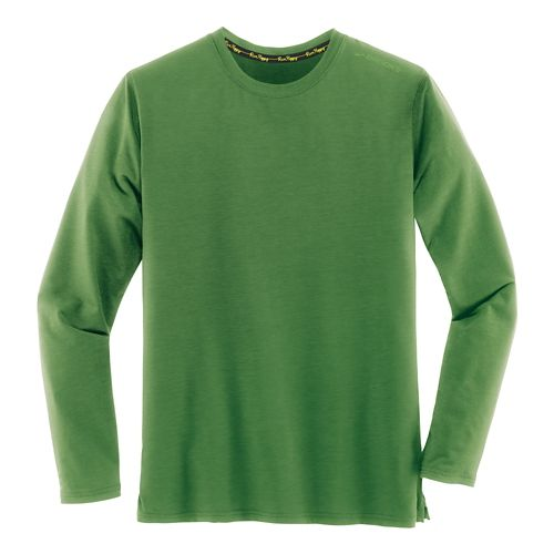 Mens Brooks Distance Long Sleeve Technical Tops - Heather Forest XS