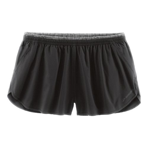 Mens Brooks Sherpa 2 Splits Shorts - Black XL