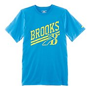 Mens Brooks Heritage T-Shirt Short Sleeve Technical Tops
