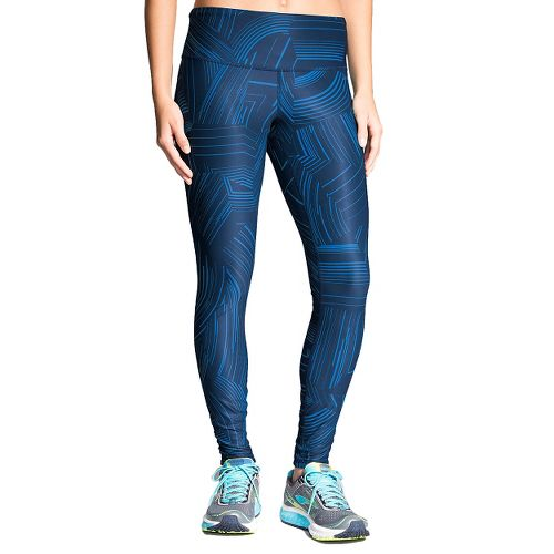 Womens Brooks Greenlight Full Length Tights - Wave Cosmo XXL