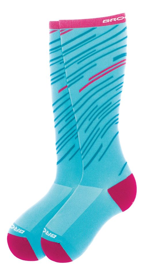 Brooks Fanatic Compression Sock Injury Recovery - Turqouise/Fuschia L